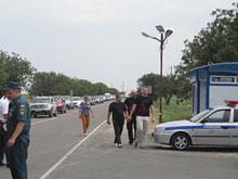 В районе  Керченской переправы разбит палаточный городок для автомобилистов