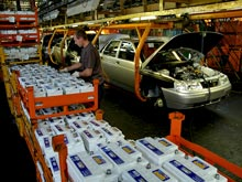 Производство легковых машин  в России с начала года упало на   20%